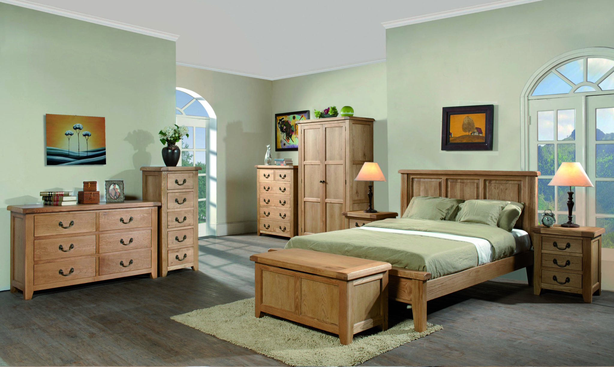 image of room set for somerset oak Oak collection