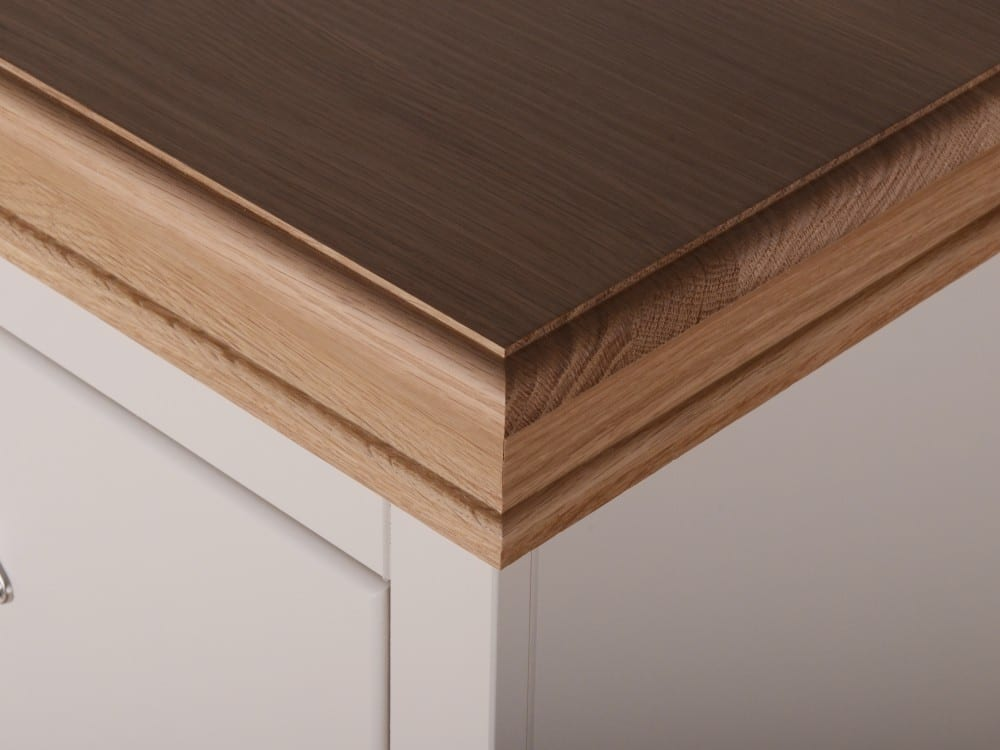 chunky and wide moulded oak top detail for the lundy painted range, can be painted too