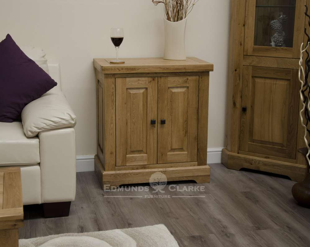 Melford Solid Oak printer/occasional cupboard. Deluxe Rustic Solid Oak printer/occasional cupboard with adjustable oak shelf inside cupboards and choice of handles DLXTVC