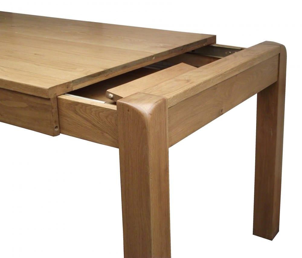 Image of oak table leaf storage in the Avon range
