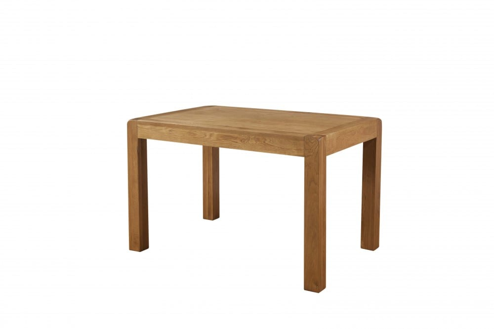 Oak 120cm non extendable dining table. with smooth curved edges DAV22
