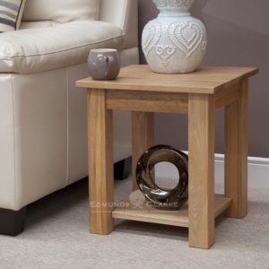 Bury Solid Oak Lamp Table