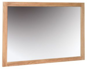 Norwich Oak Wall Mirror 130cm x 90cm. Shaker style clean lines. square oak frame. NNM30