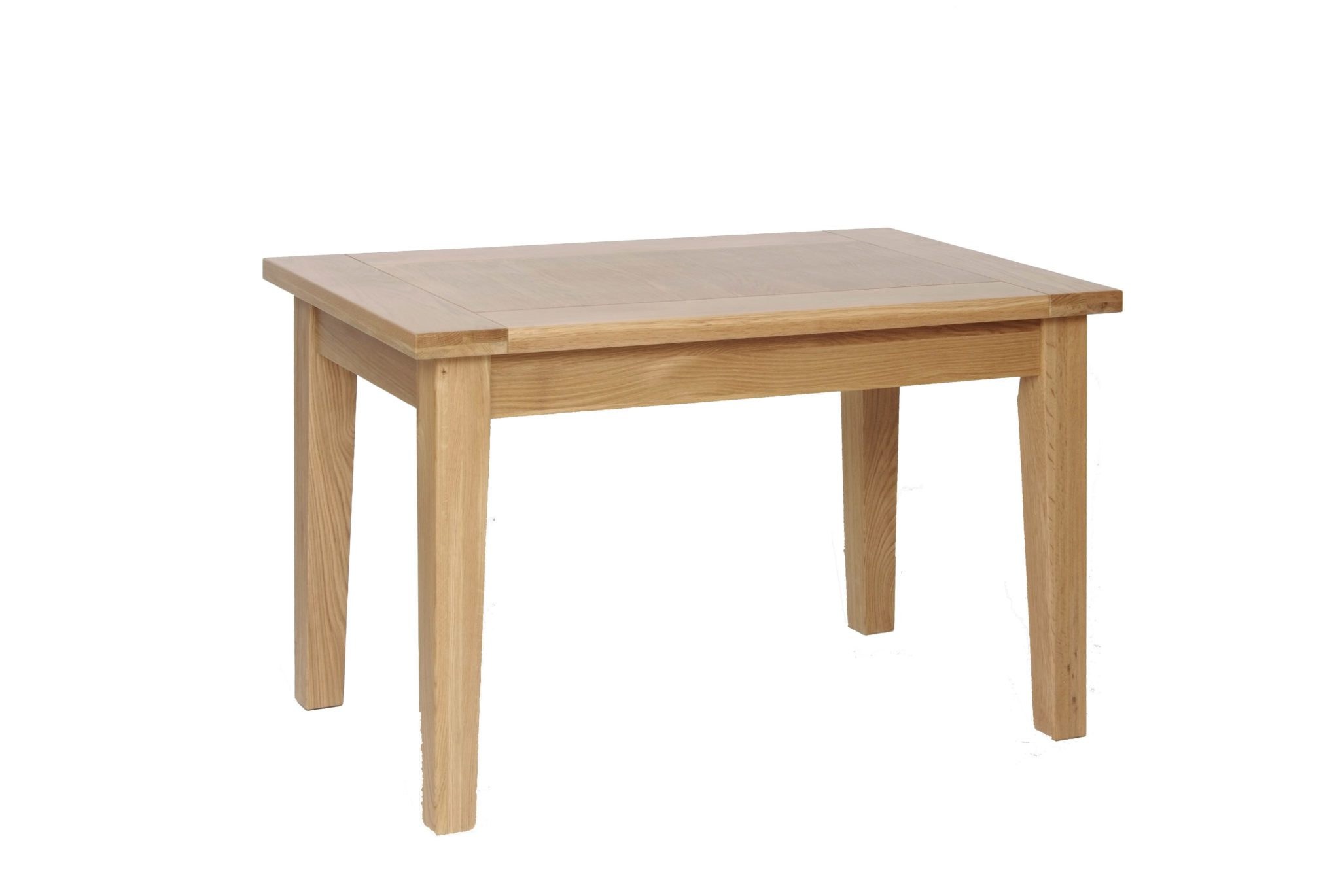 Norwich Oak 4ft x 2ft6 Fixed Top Dining Table. Contemporary shaker style with slight tapered legs. Seats 6. NNT09