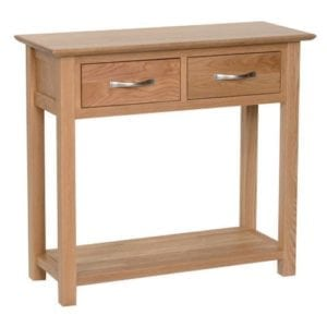 Norwich oak 2 drawer console