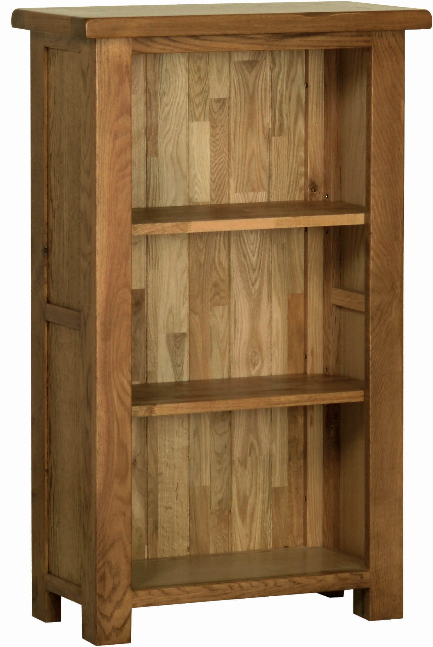 Sudbury Oak 3ft Bookcase. Rustic shaker style with rounded edges. 2 adjustable shelves. SRK15