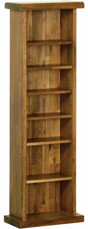 Sudbury Oak CDDVD Rack. Rustic shaker style with rounded edges. 6 shelves giving ample space. SRR20