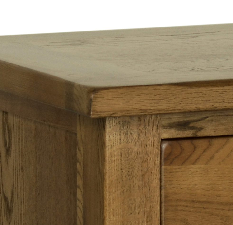 Image of Sudbury Oak rustic top detail by Edmunds & Clarke Furniture Ltd