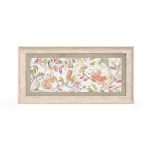 Voyage Maison Squirrells Framed Art AE150020 SQUIRRELS LONG RECTANGLE BIRCH Frame