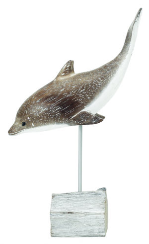 Archipelago Diving Dolphin Wood Carving D202. Fair Trade