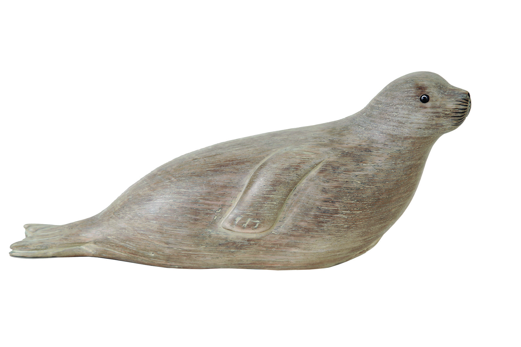 Archipelago Seal Head-Up Wood Carving D279 relaxing seal with its head up. Fair trade