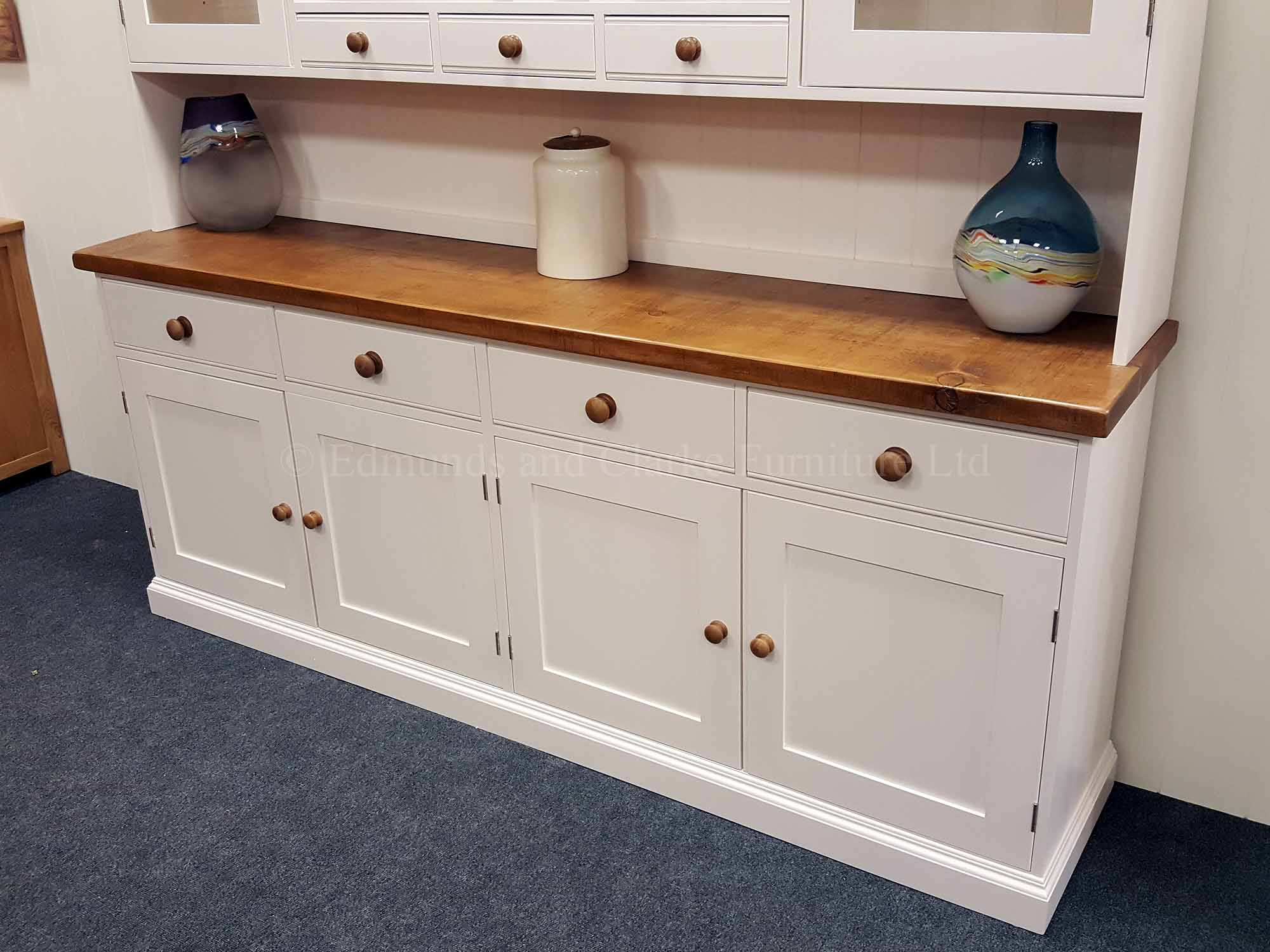 7ft Edmunds painted kitchen dresser, choose your paint colour handles tops