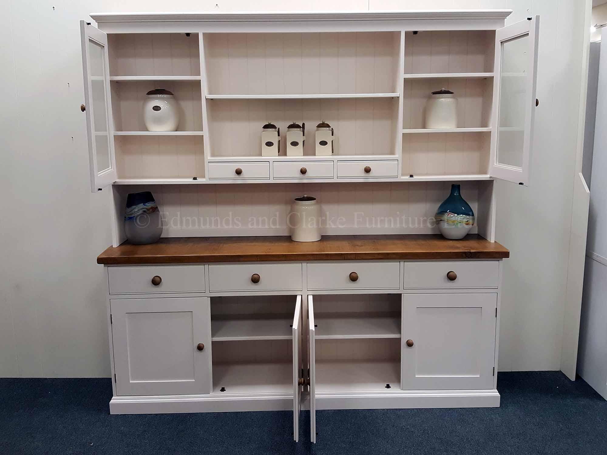7ft plain painted kitchen dresser, choose your paint colour and tops
