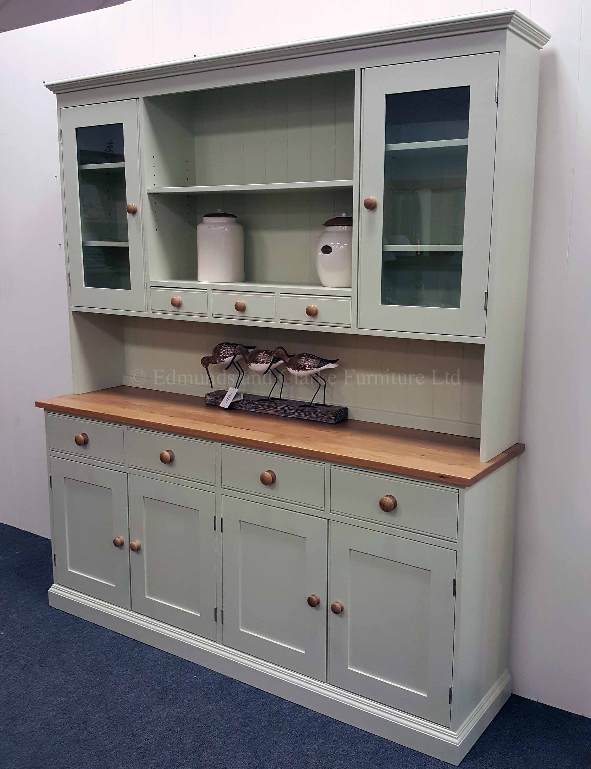Plain dresser made for the kitchen dining room, oak top and knobs