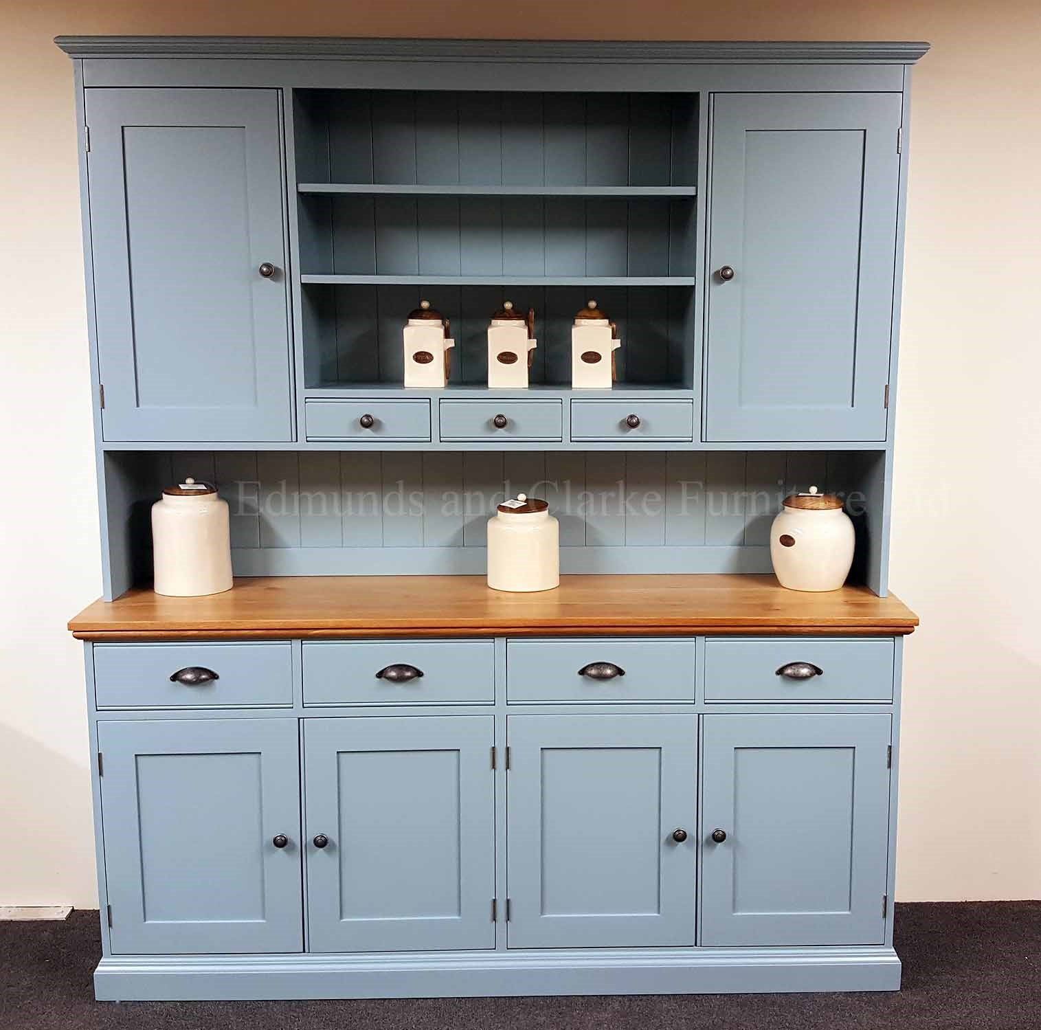 Kitchen dresser painted with solid oak top choice of paint colours