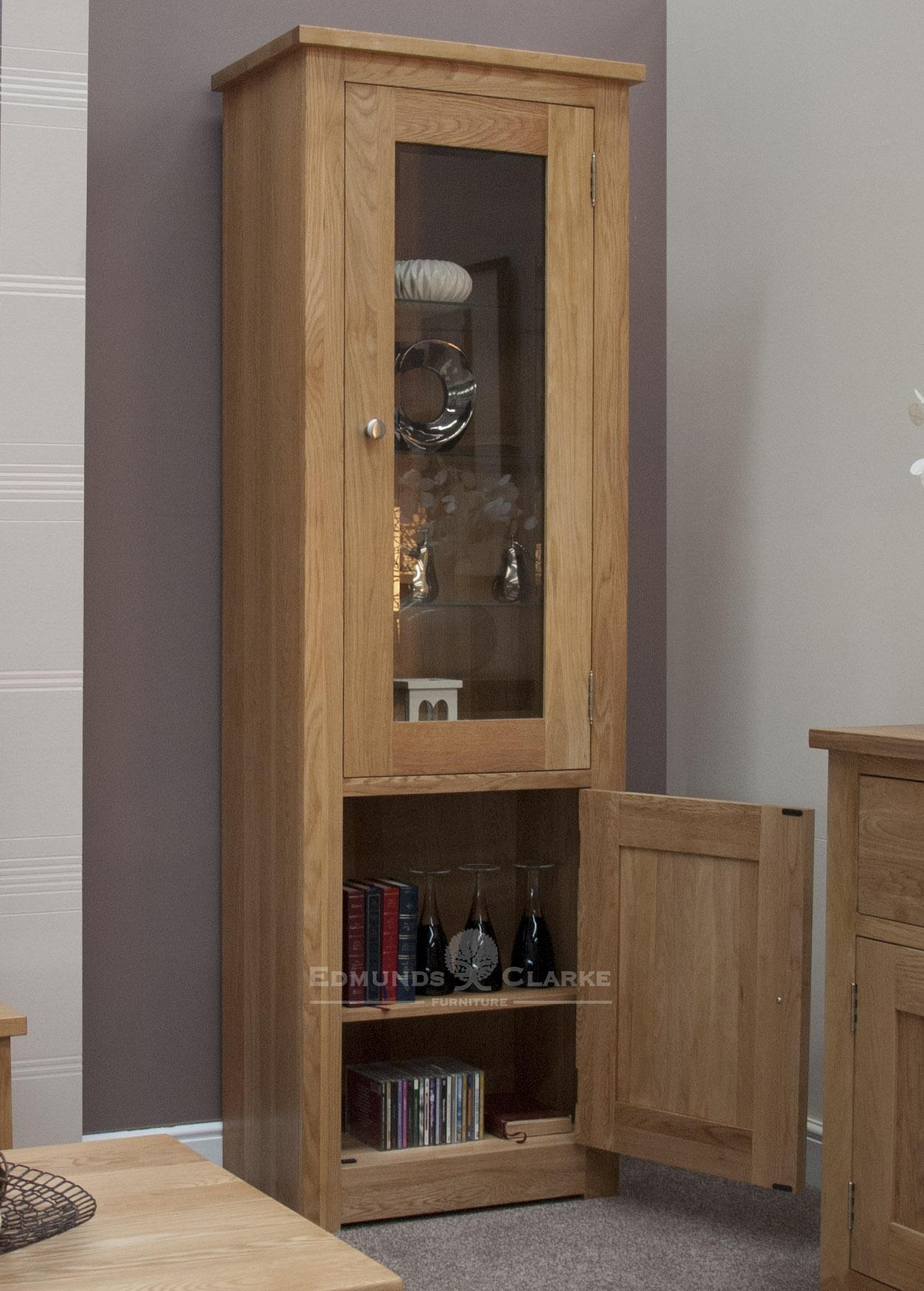 Woodbridge Oak 1 Door Glass Bookcase Edmunds And Clarke