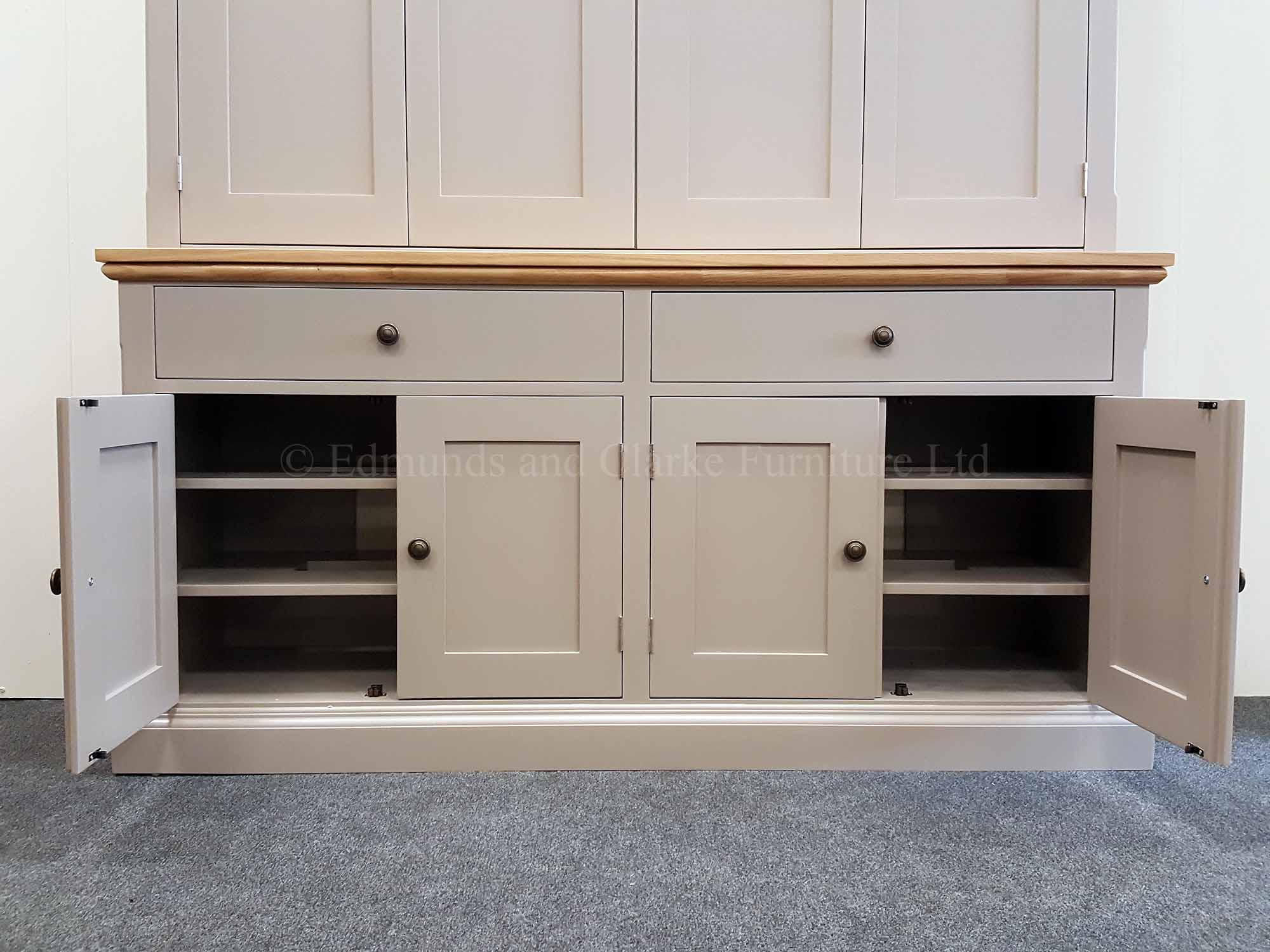 Edmunds large wide plasma tv cupboard, available in a range of paint colours