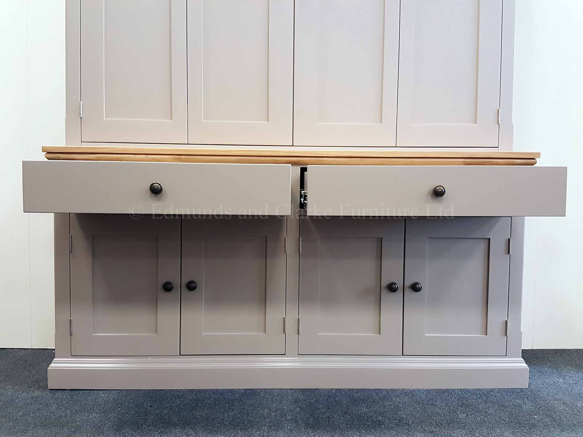 Edmunds flat screen tv cupboard with bifold doors in top section