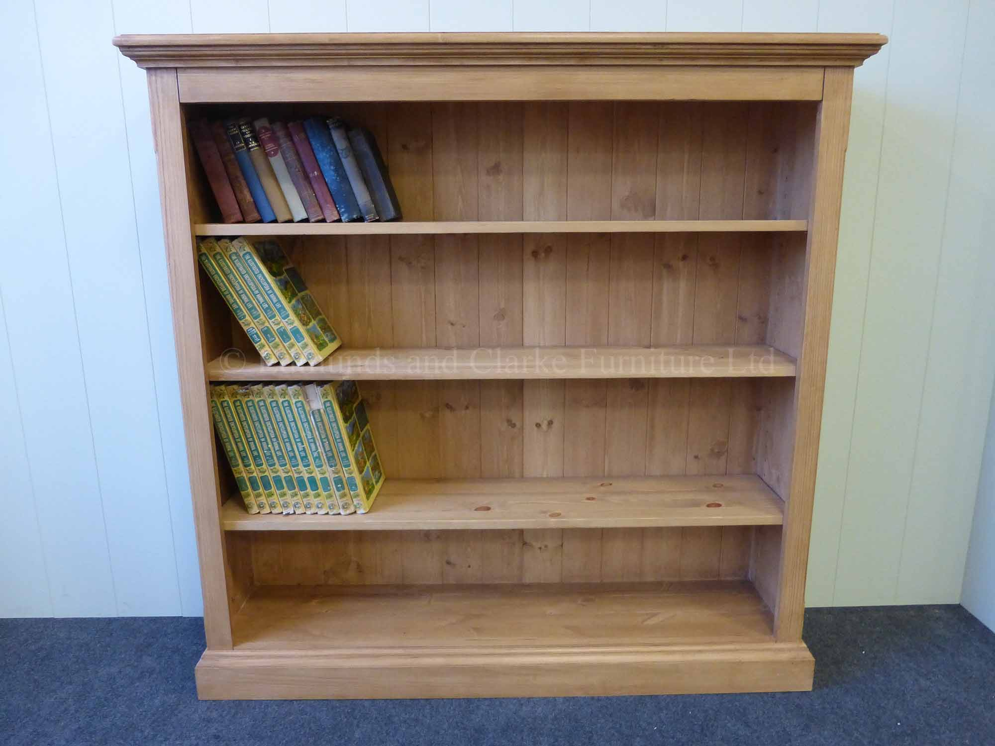 rustic bookcase outlet bookcases barn pine wood furniture looking collections
