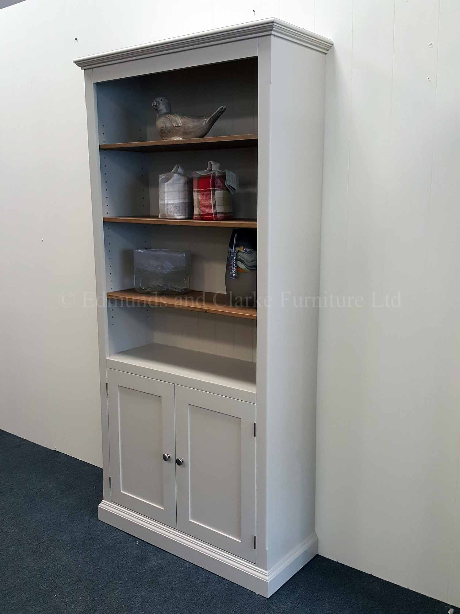 Edmunds half door painted bookcase, huge choice of options available
