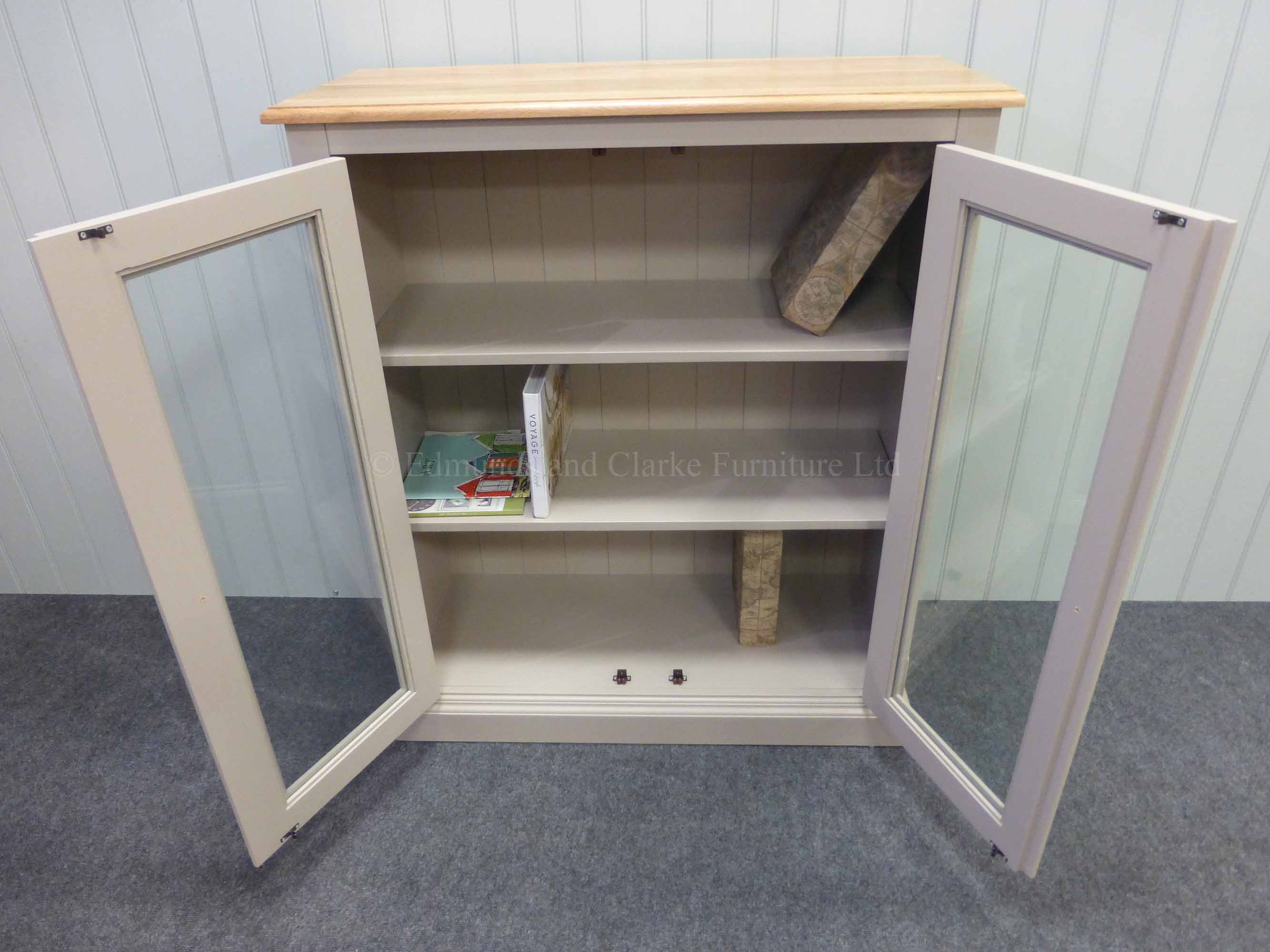 Two door glazed bookcase, painted in a choice of paint colours