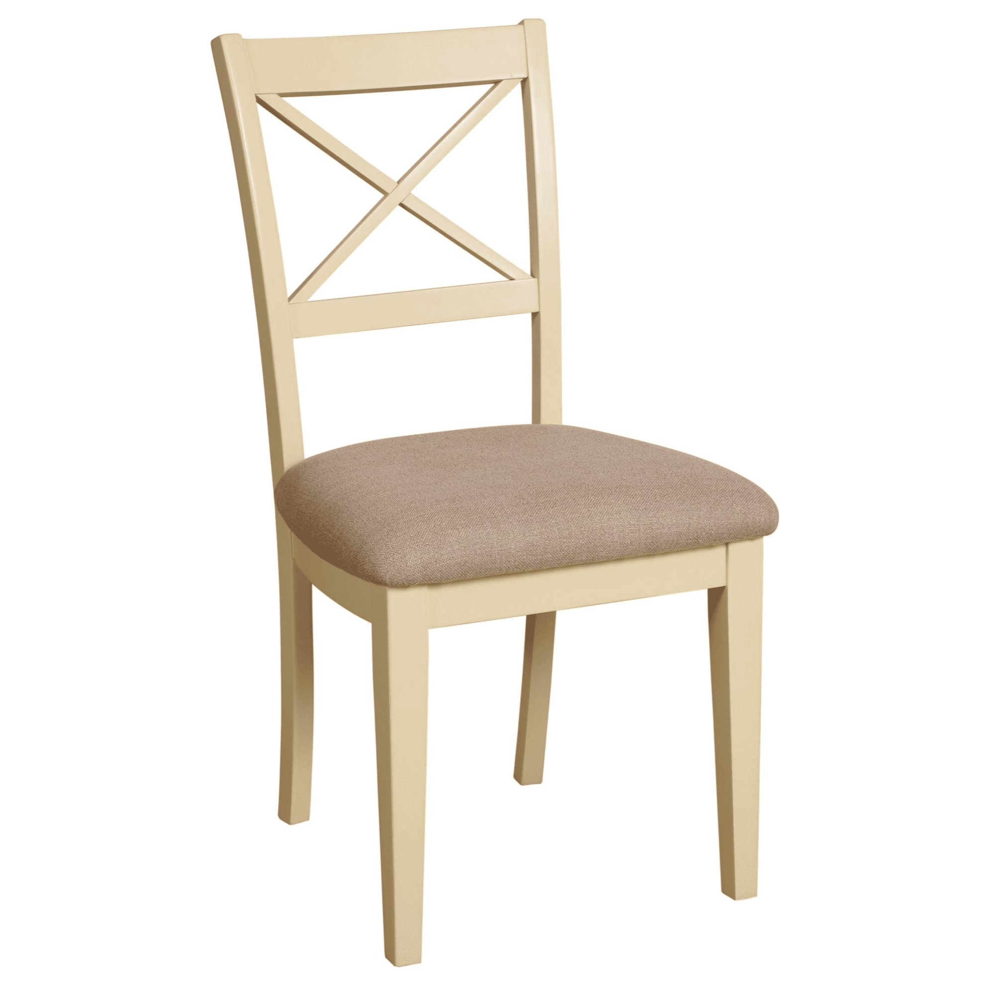 LH08 Lundy painted slat back chairs with padded seat