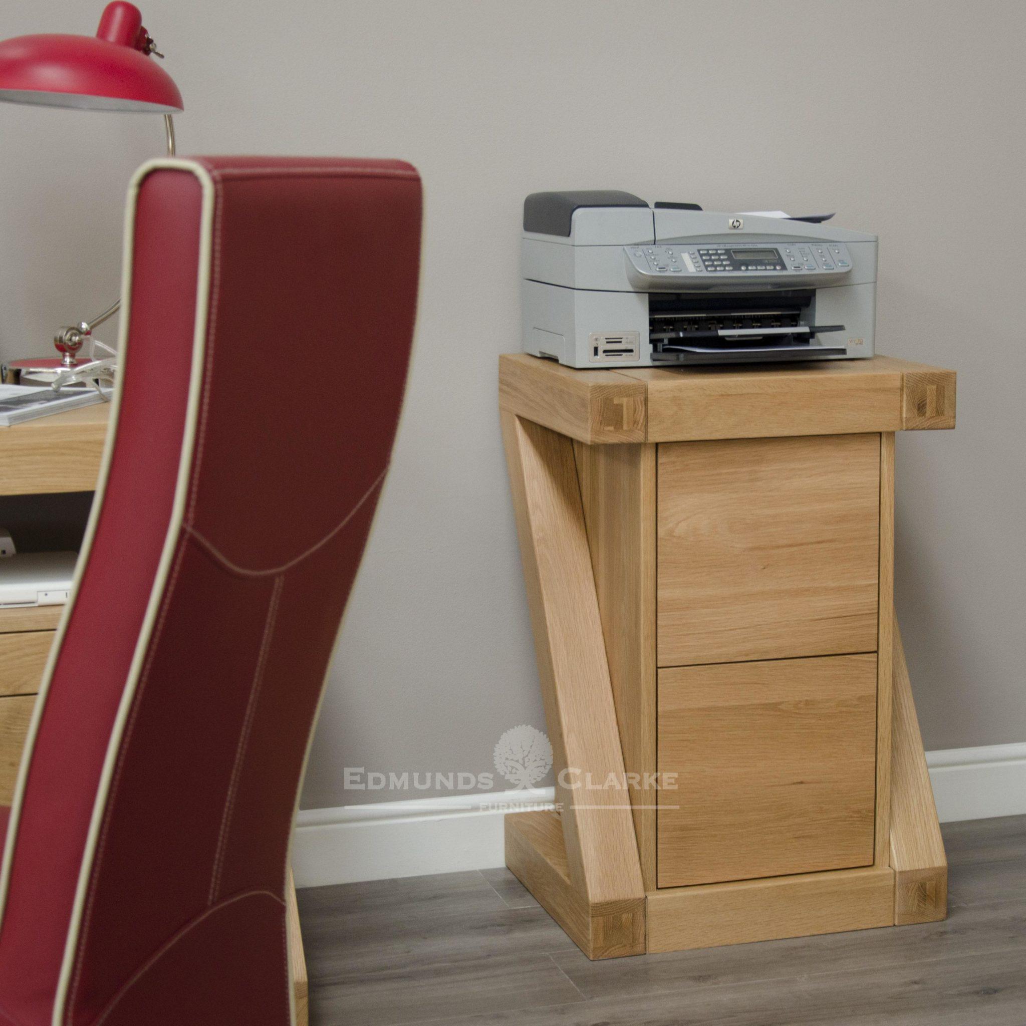 ZFC 2 drawer solid oak filing cabinet