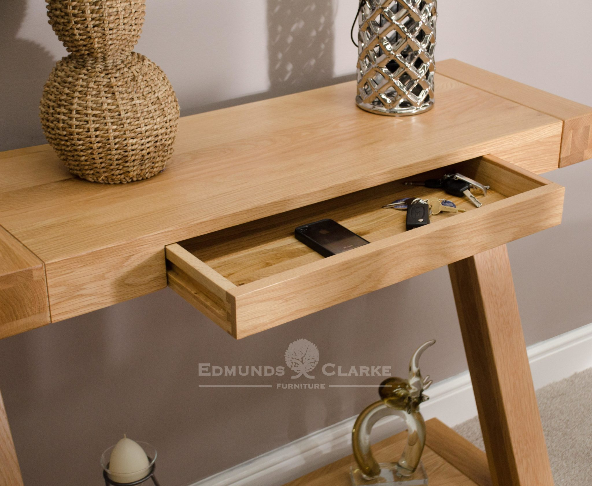 ZHT Z designed hall table made from solid oak