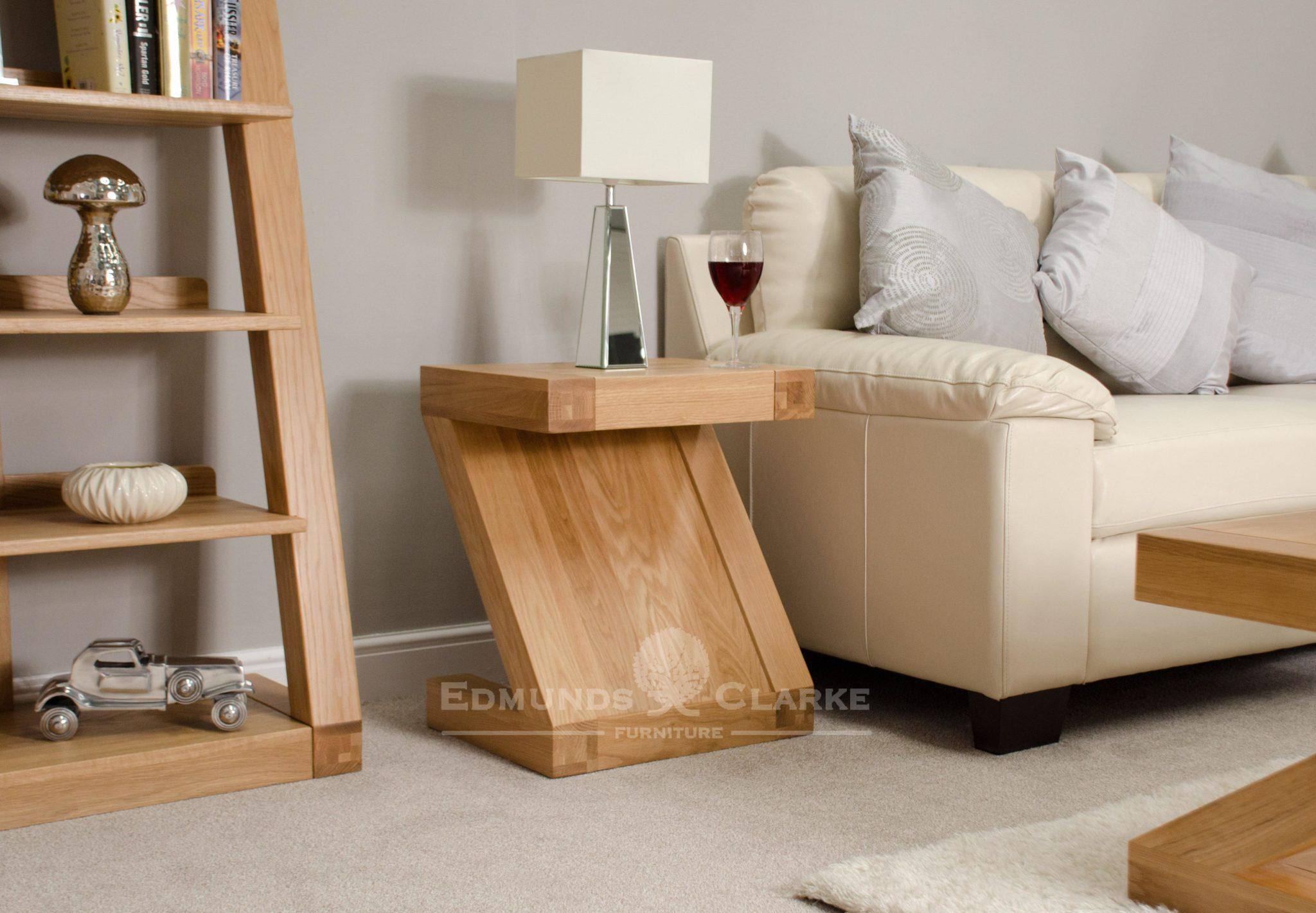 ZLT Z designer solid oak lamp table