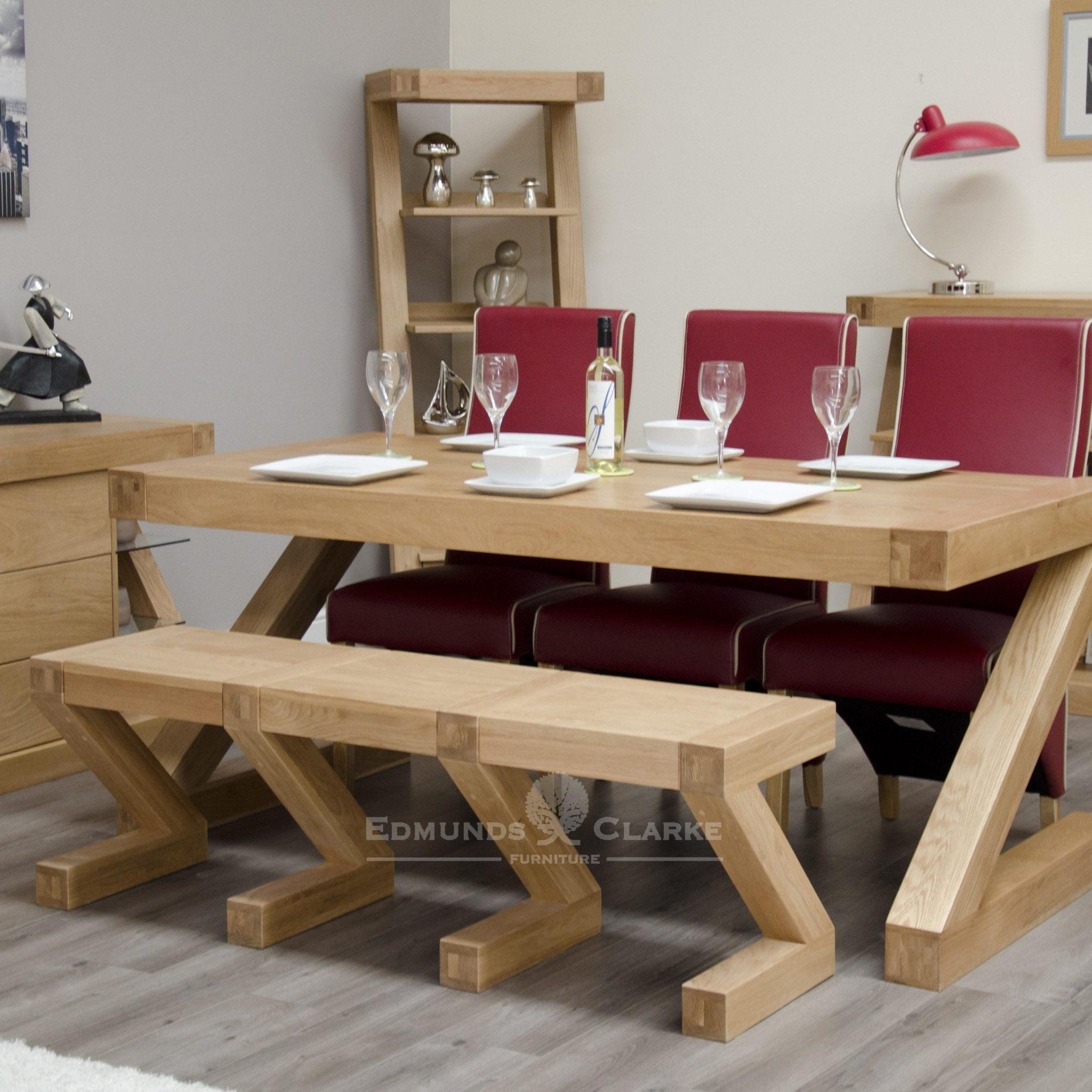 Z designer solid oak Z style bench ZLGBENCH
