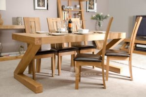 Z6X3T Z designed solid oak dining table