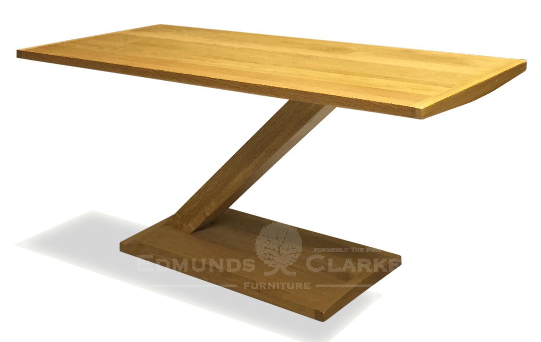 Z designer solid oak modern coffee table Z shaped stylish ZMODCT