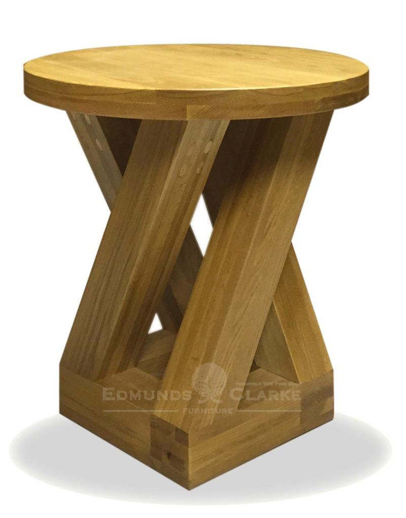 Z designer solid oak round 4 leg lamp table edmunds and clarke z designer solid oak round 4 leg lamp table aloadofball Images