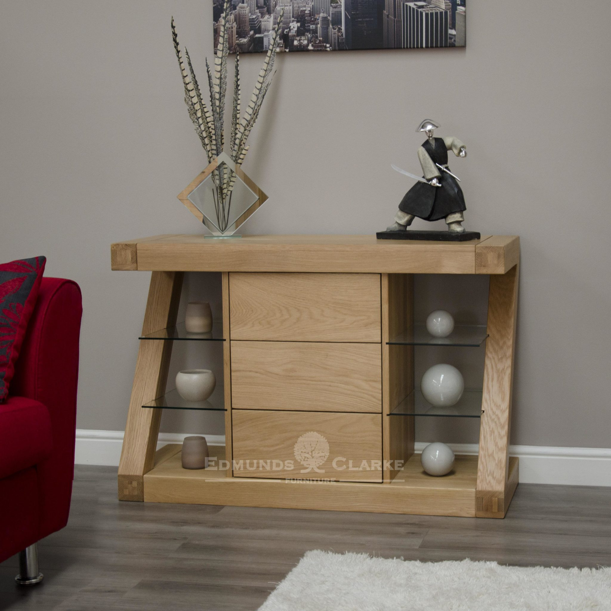 Z designer solid oak small sideboard ZSSB