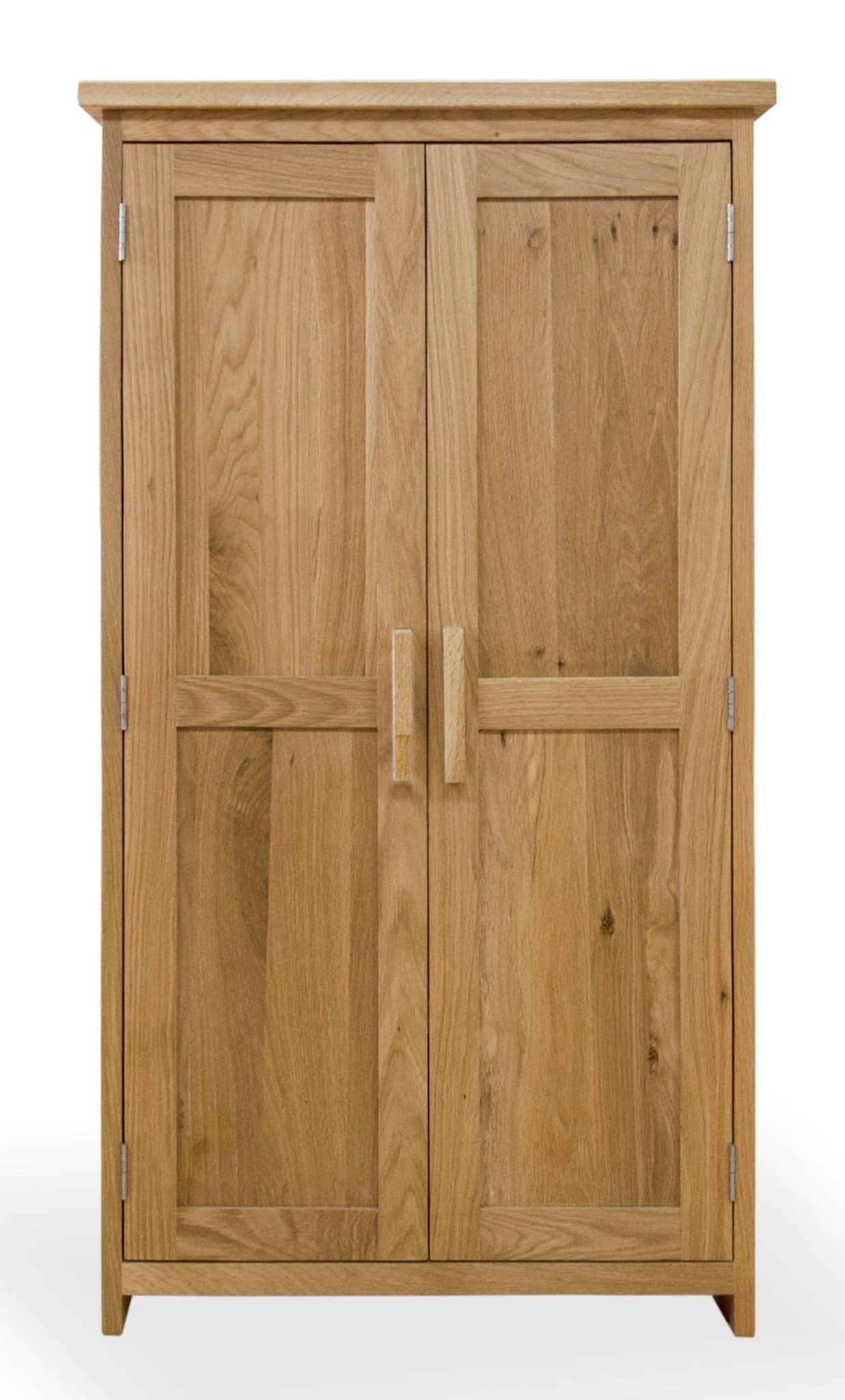 Bury Oak CD/DVD storage cupboard available either with metal or wooden handles