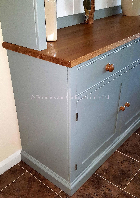 8ft half glazed painted dresser