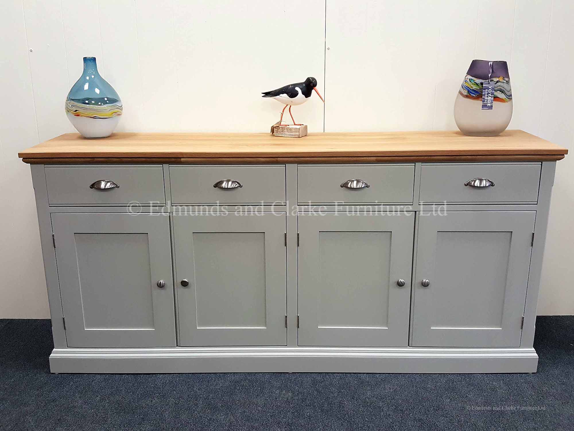 Painted 4 door 4 drawer sideboard with choice of paint colours and tops