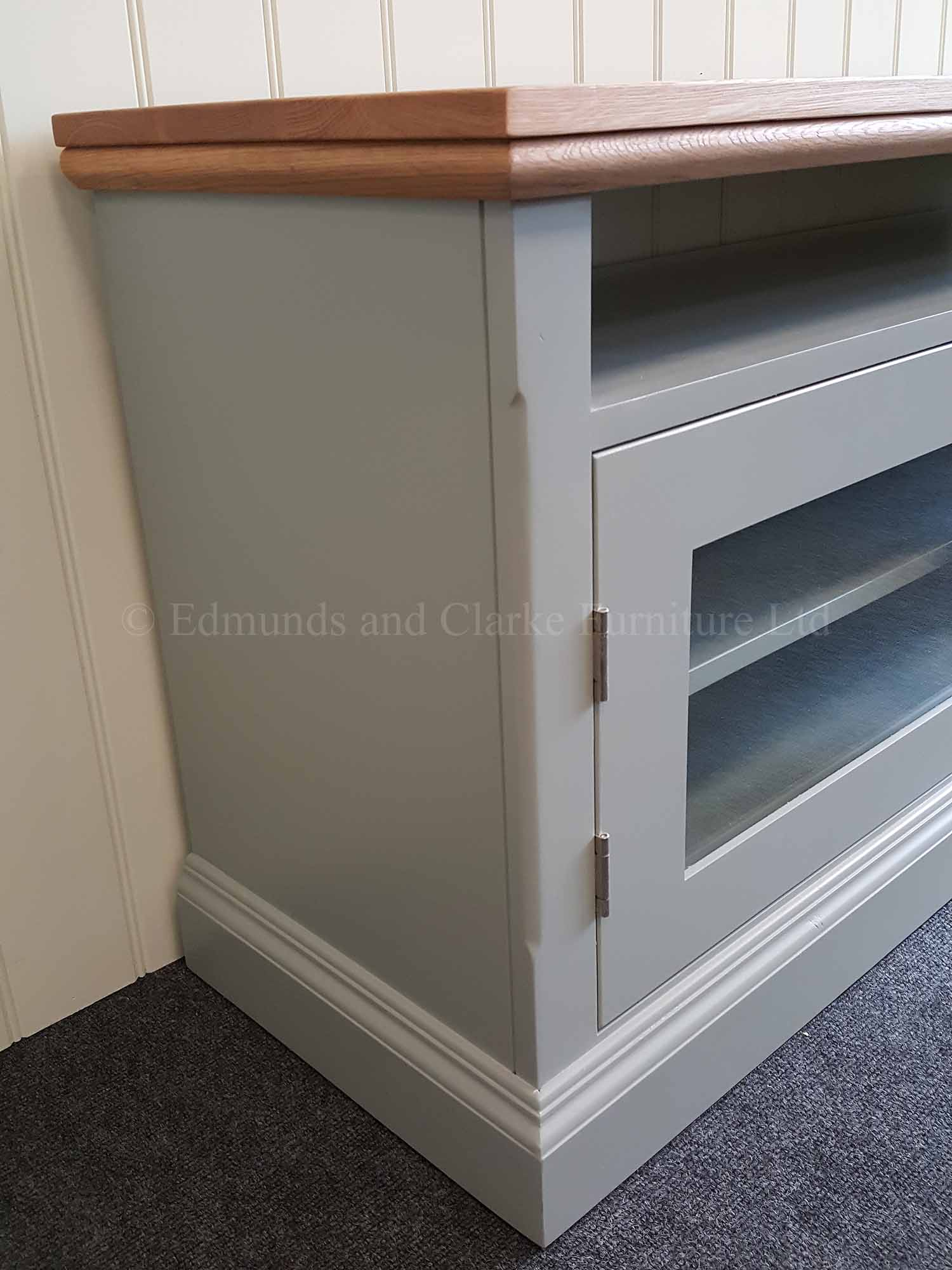Edmunds painted television media unit