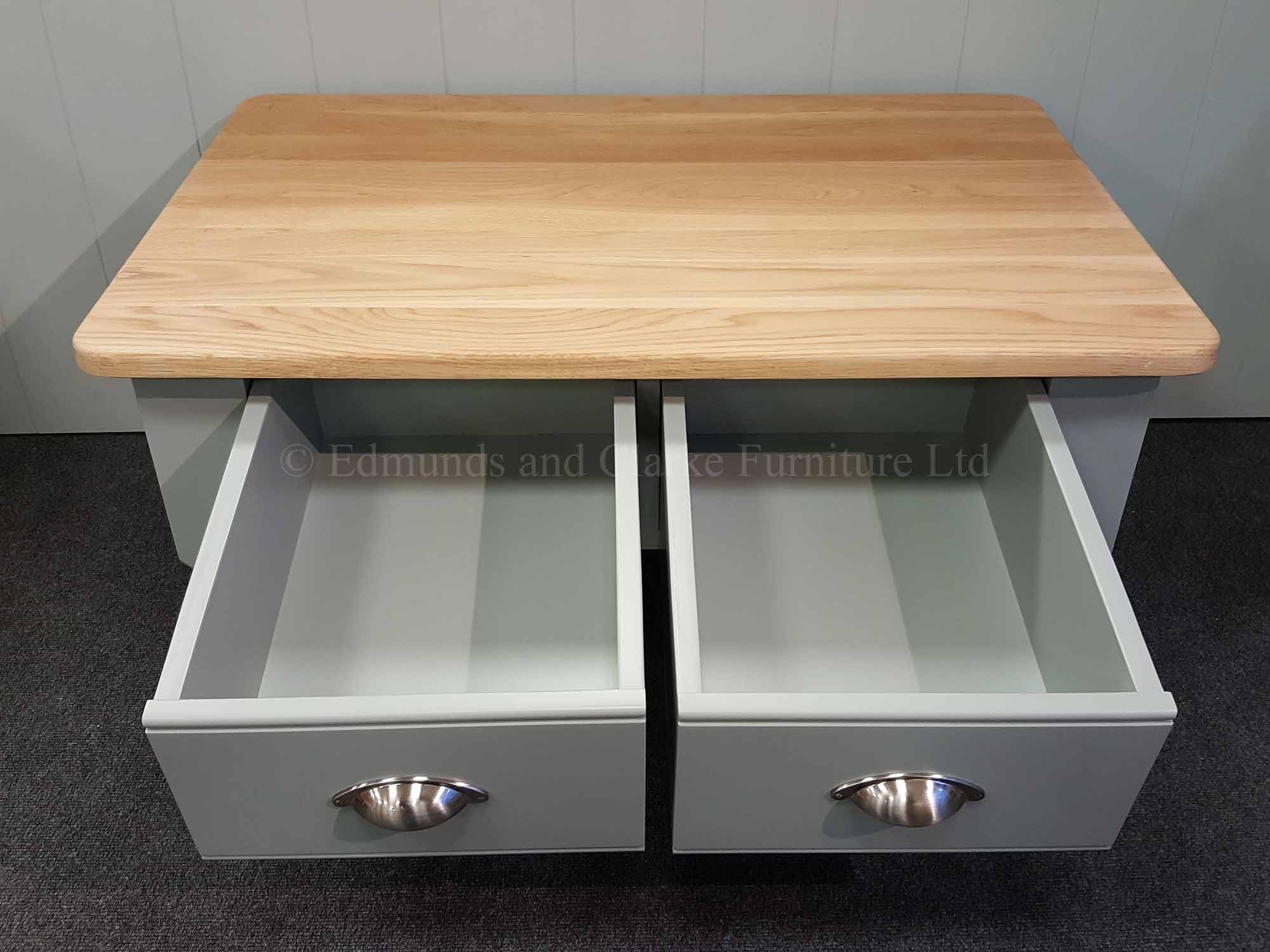 Edmunds 2 drawer coffee table with two deep drawers