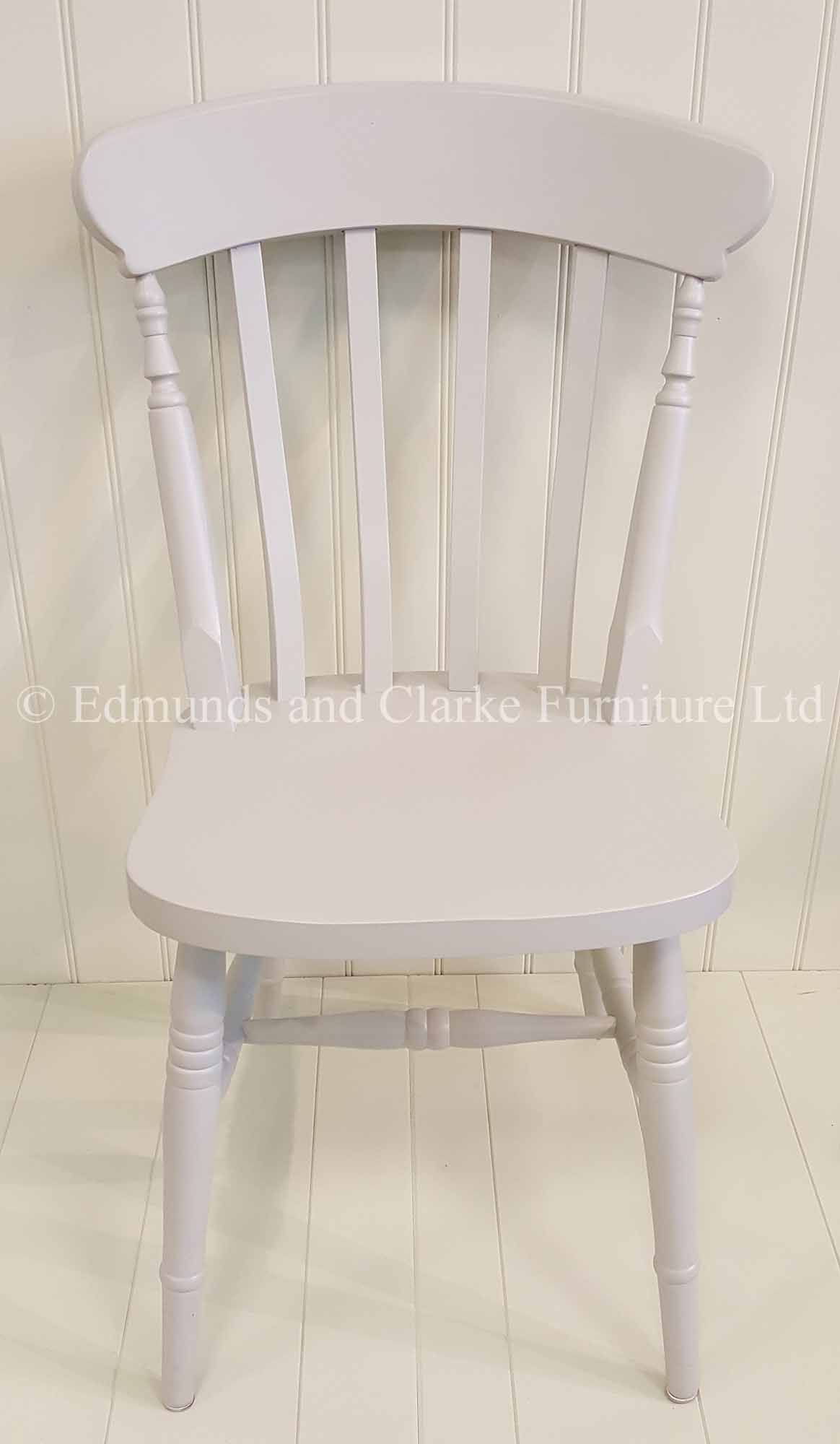 Farmhouse painted slat chair, choice of colours