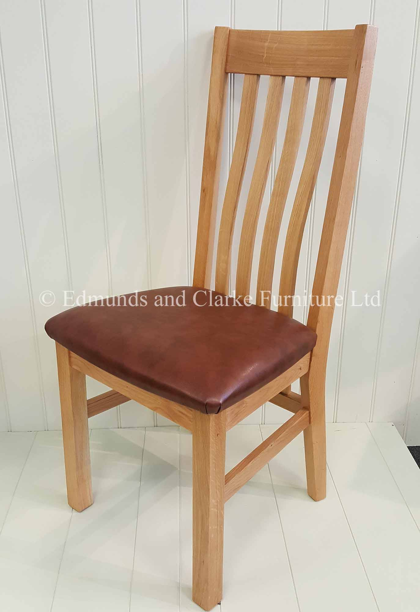 Edmunds Harrington Oak Dining Chair. comfortable oak seat as standard . a huge choice of fabrics available