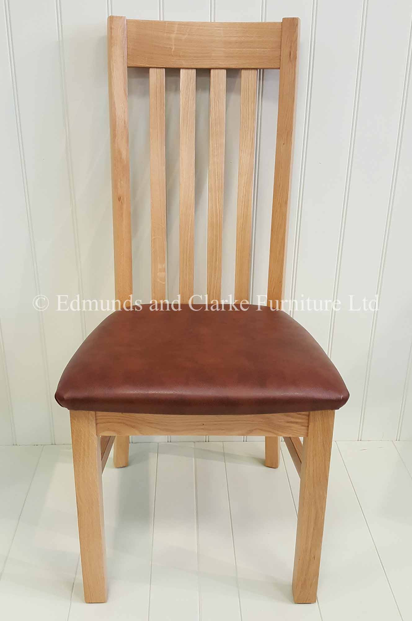 Harrington chair made from oak choice of seat pads