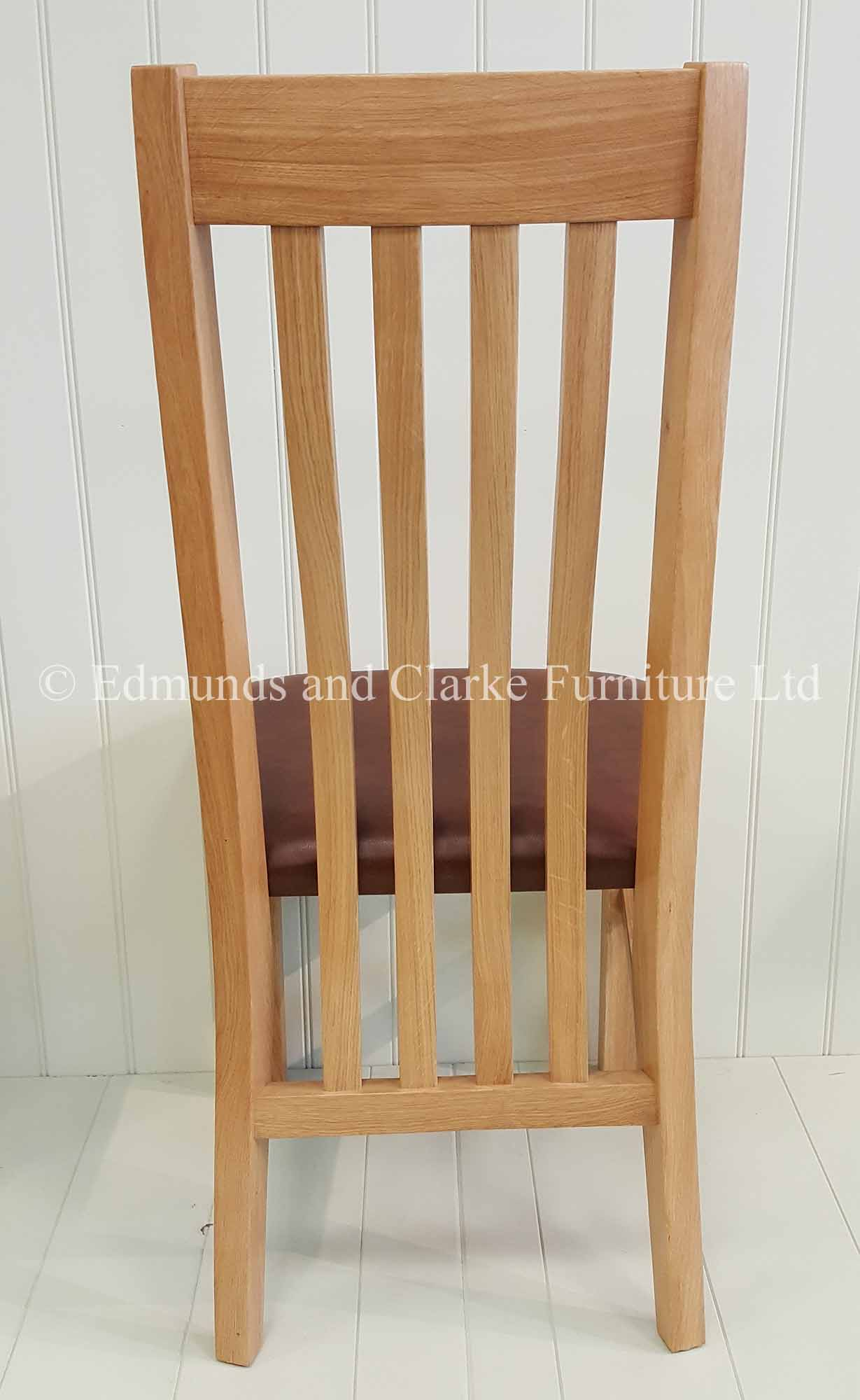 Harrington oak dining chair with leather seat