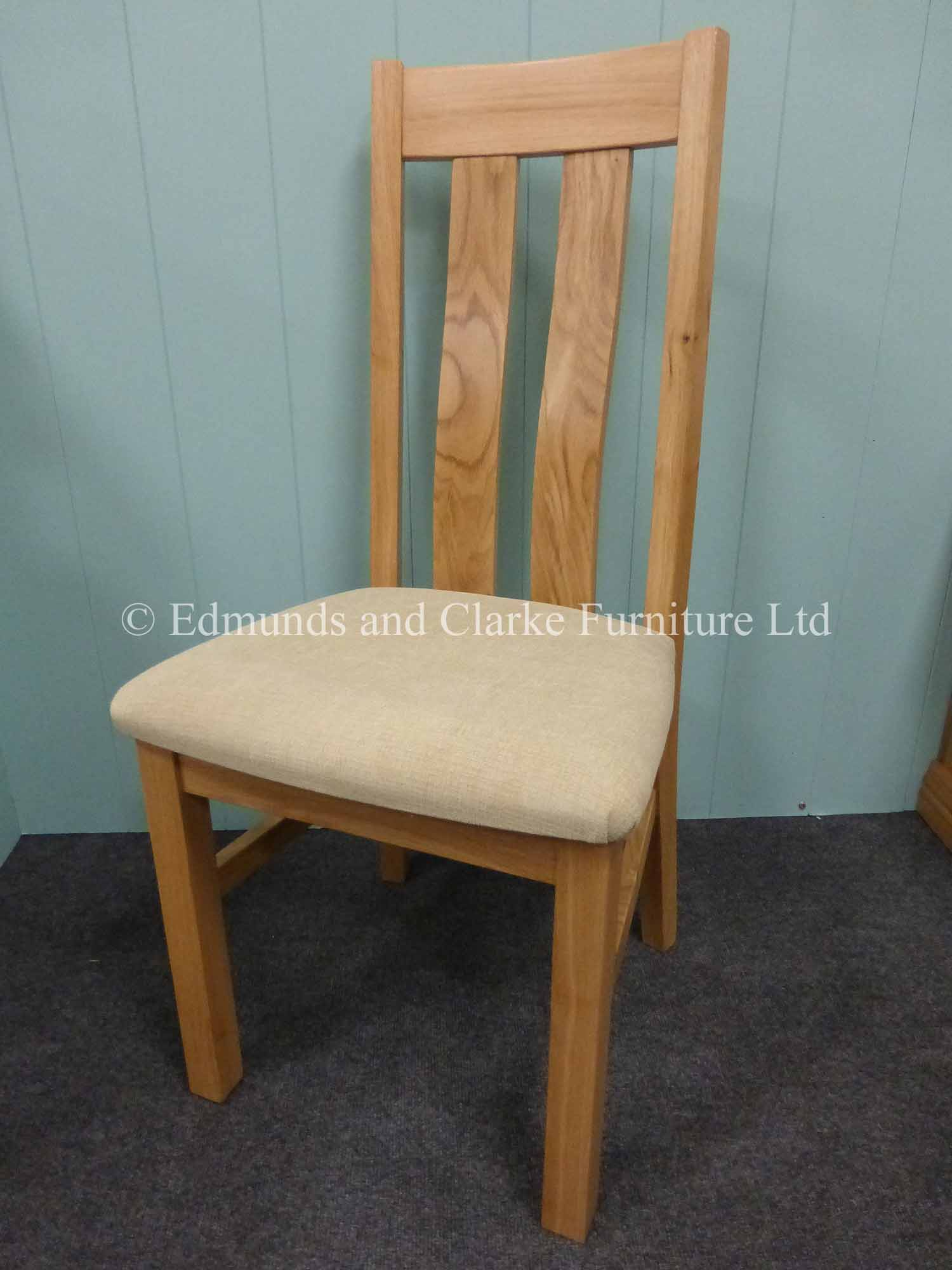 harris oak dining chair with fabric seat options