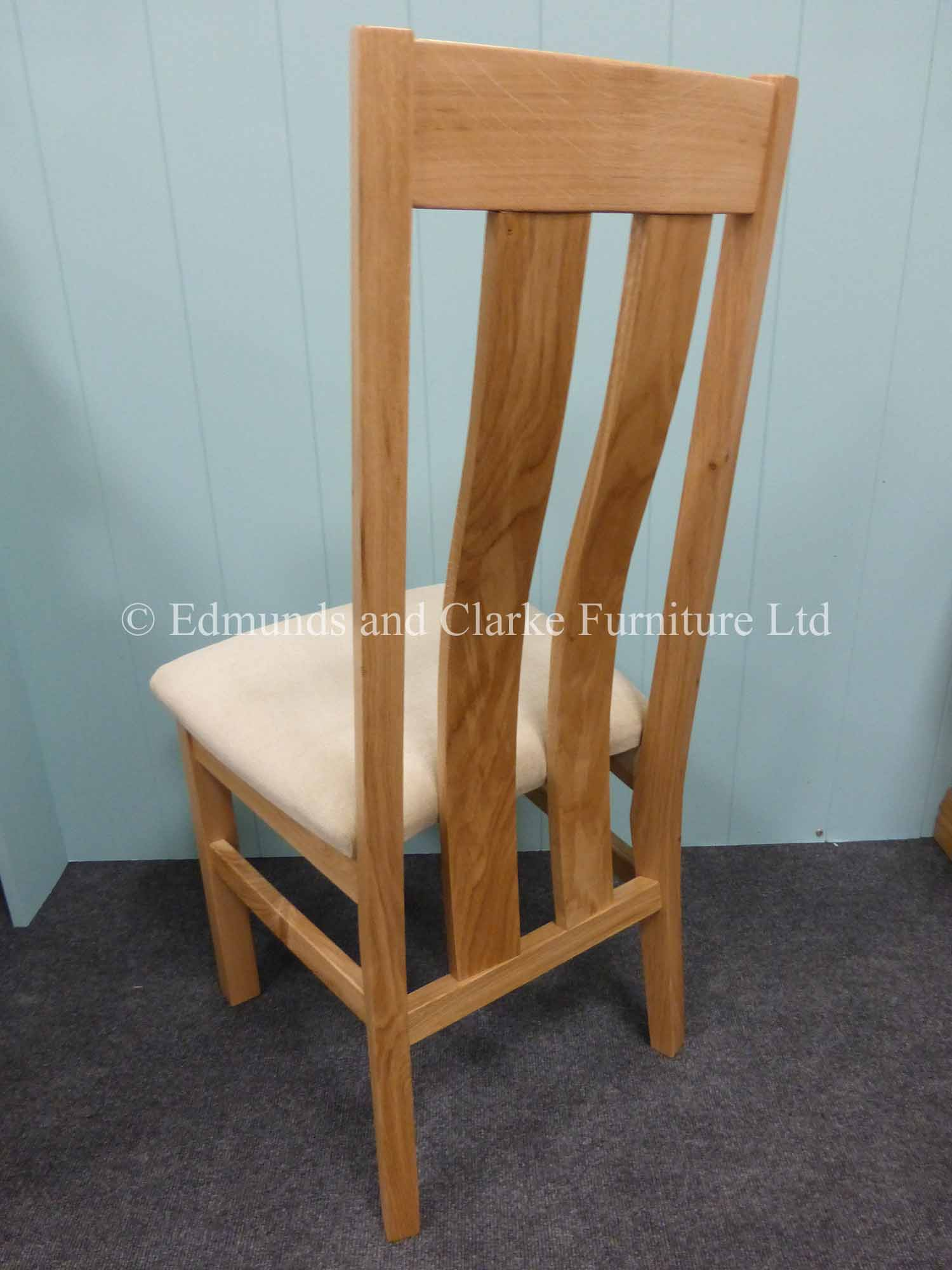 Harris oak dining chair, nice looking chair to go with our Edmunds tables