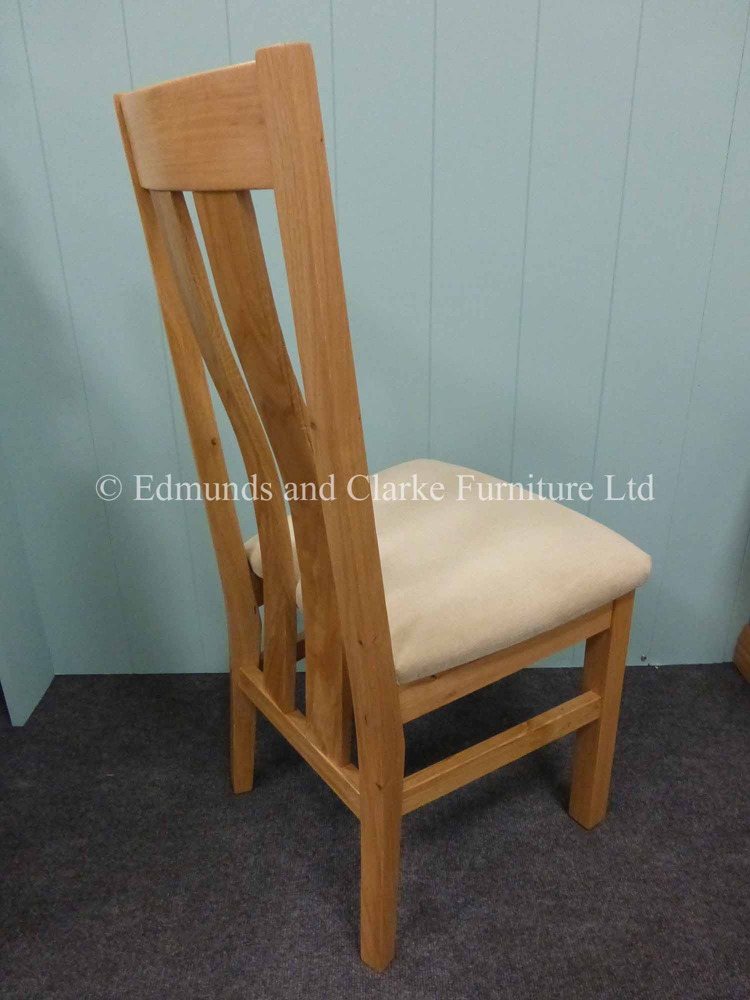 harris oak dining chair choice of seat pads
