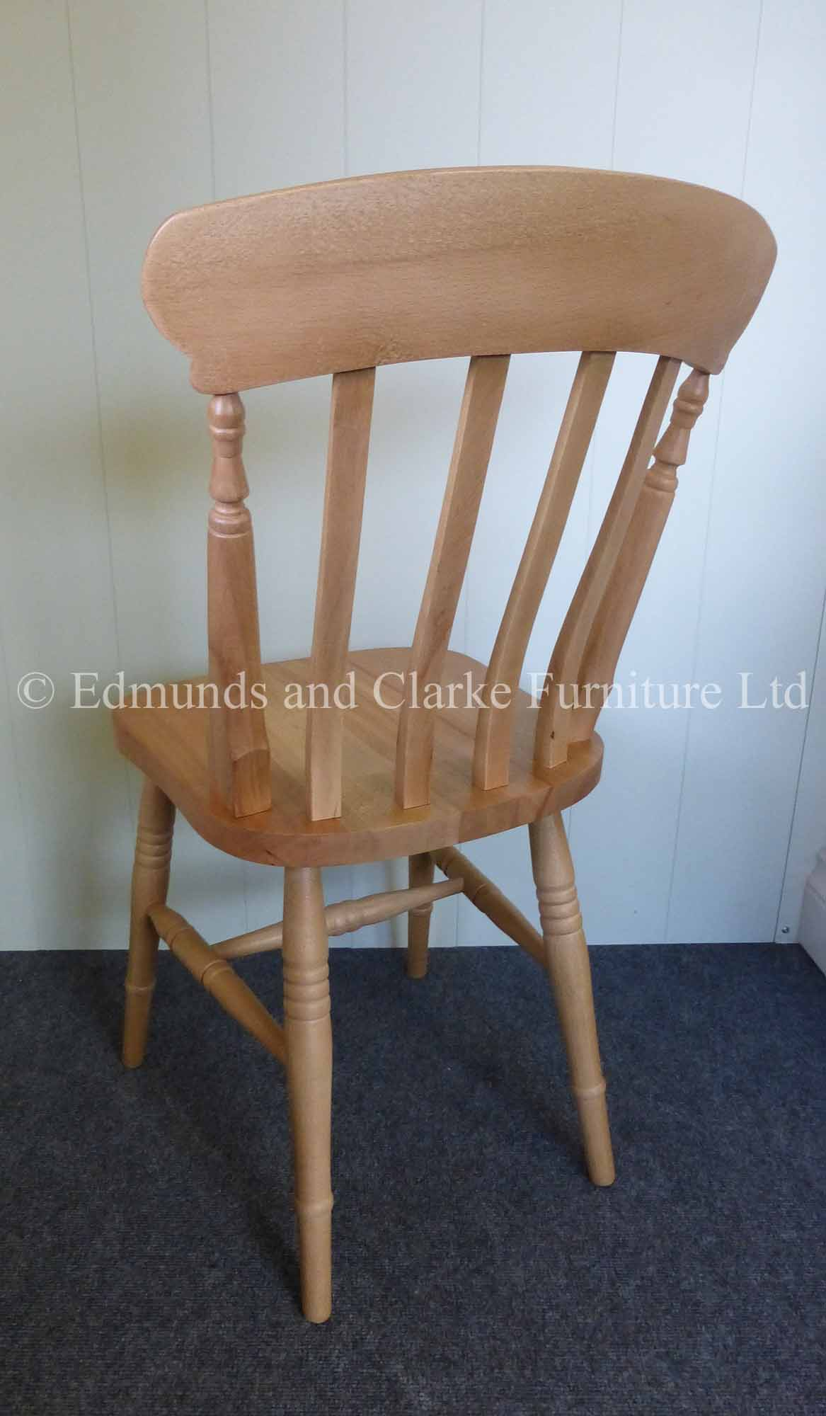 Farmhouse slat chair beech