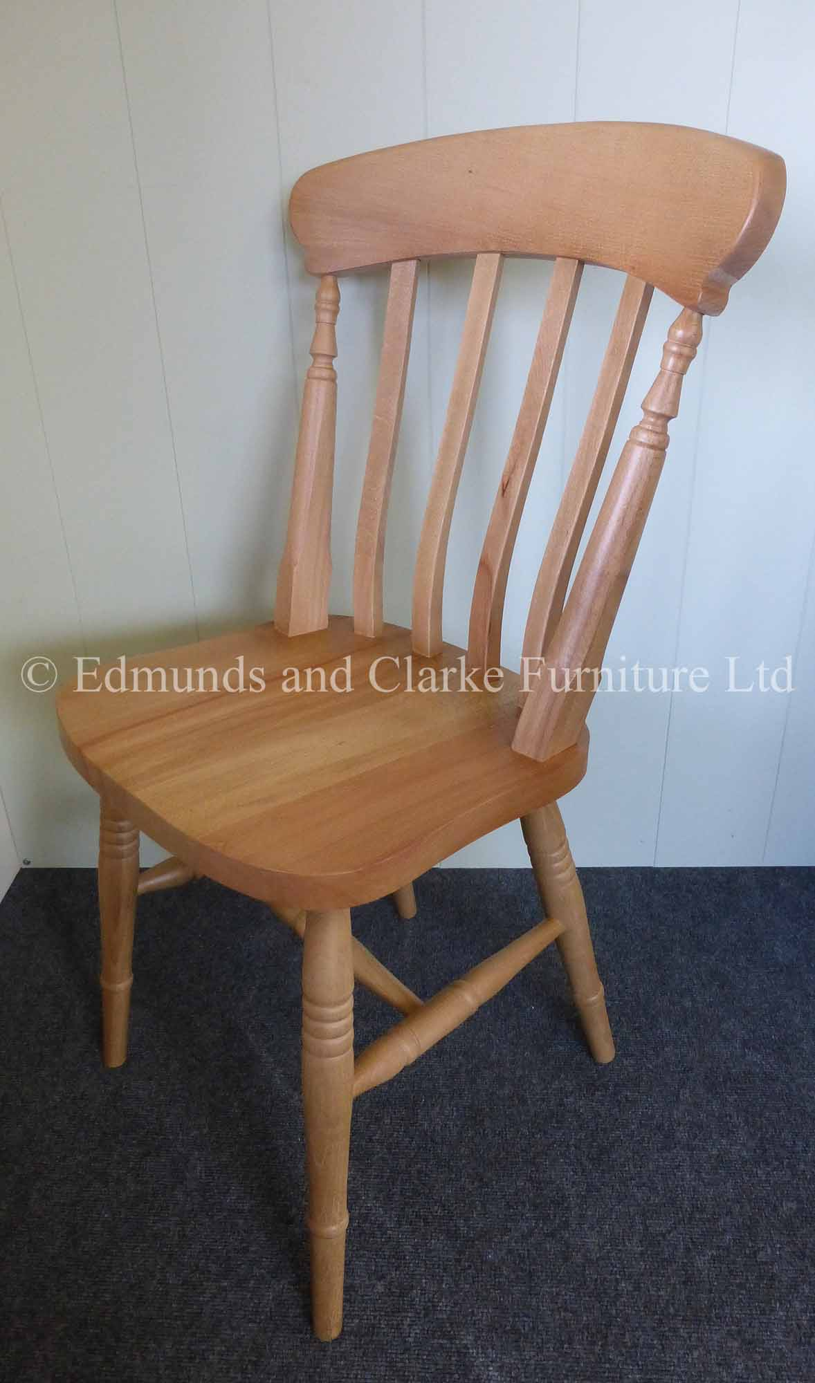 Slat farmhouse style side chaIr