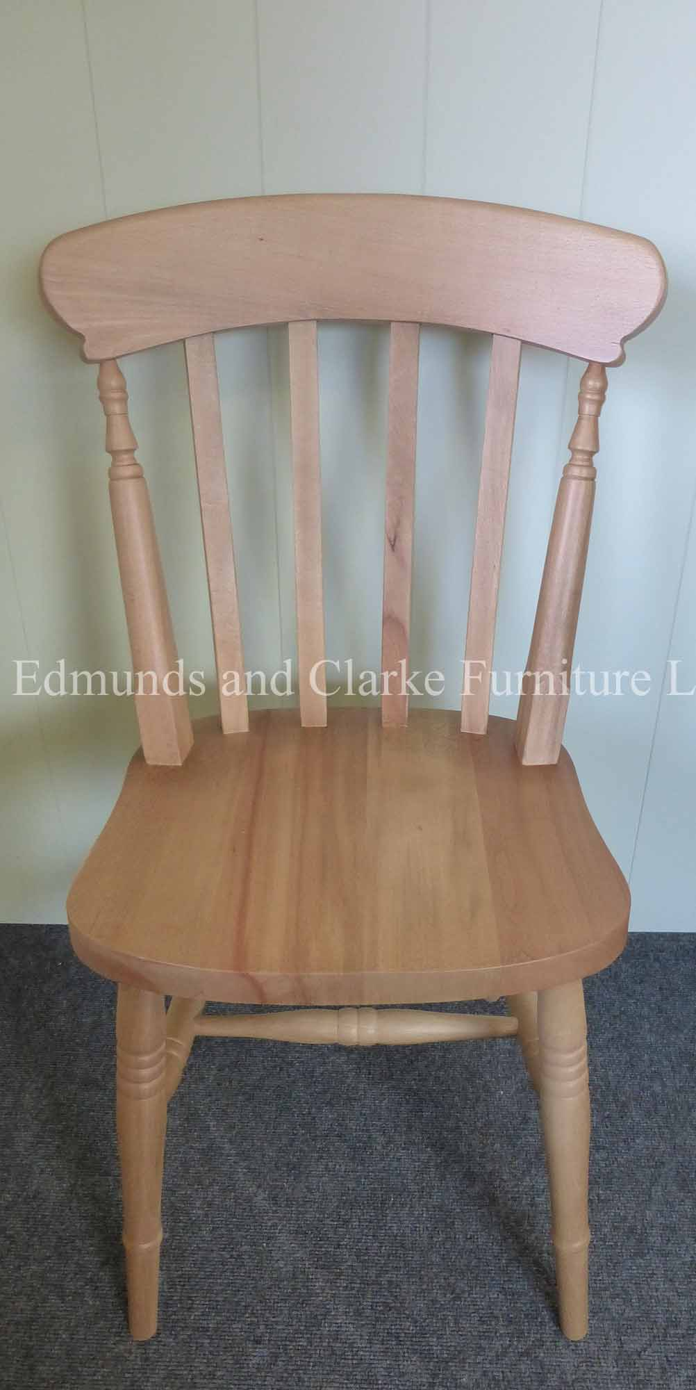 High back farmhouse slat chair