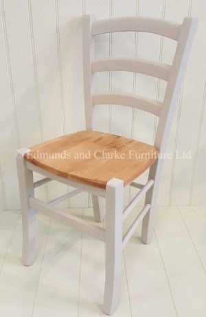 Edmunds Liege Dining Chair. painted with a solid seat. perfect for small kitchen or small dining tables. 10 colours available